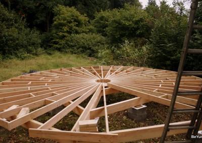 Montage de la structure du plancher