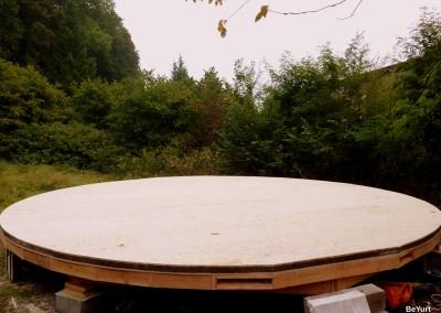 Le plancher presque terminé